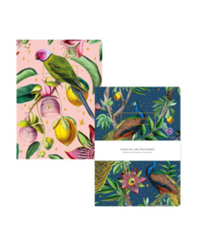 CREATIVE LAB AMSTERDAM Passion Peacock/Botanical Garden notebook set