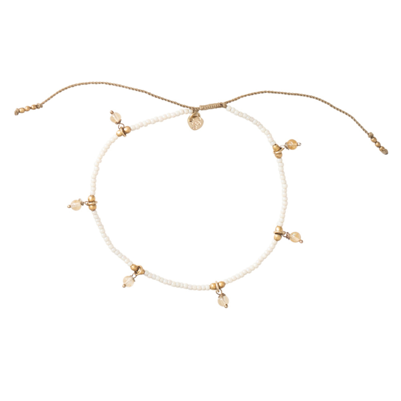 A BEAUTIFUL STORY  Dreamy Citrine gold anklet