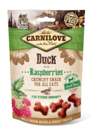 Crunchy Snack Duck with Raspberries 50gr