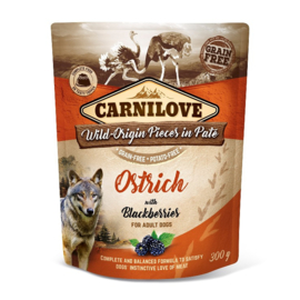 Carnilove Pouch Paté Ostrich with Blackberries 300 g