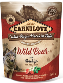 Pouch Paté Wild Boar with Rosehips 300 g