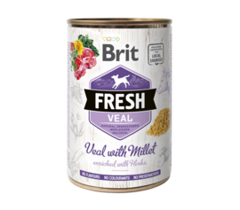 Brit Fresh can Veal with millet  400g