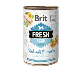 Brit Fresh can Fish with pumpkin   400g