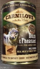 Carnilove blik duck en pheasant 400 gram