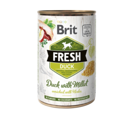 Brit Fresh can Duck with millet  400g
