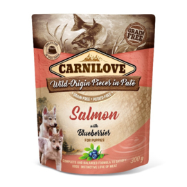 Pouch Paté Salmon with Blueberries for Puppies 300 g