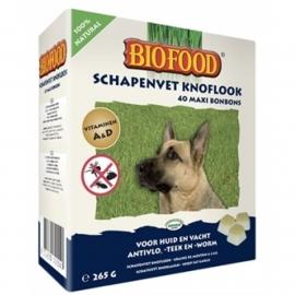 Biofood schapenvet met knoflook 40 stuks