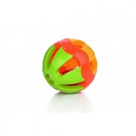 Plastic knaagdier bal+bel 7.5 CM