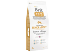 Brit Care Grain-free Senior&Light Salmon & Potato 12 kg