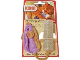 Kong corduroy muis met catnip