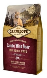 Carnilove Lamb & Wildboar Adult Sterilised 2kg
