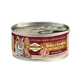 Carnilove Turkey/Rendier 100 gr