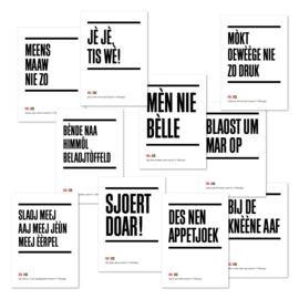 Tilburgse Kòrtjes - set van 10 - gezegden