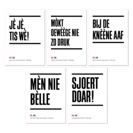 Tilburgse Kòrtjes - set van 5 - gezegden
