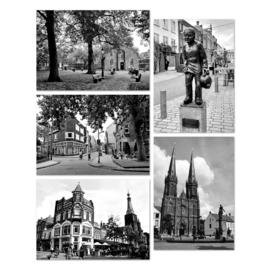 Ansichtkaarten foto's Tilburg - set van 5