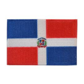 Embleem vlag Dominicaanse-Repulbliek