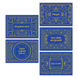 Ansichtkaarten Tilburgse frames - set van 5