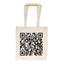 Never Gonna Give You Up QR linnentasje