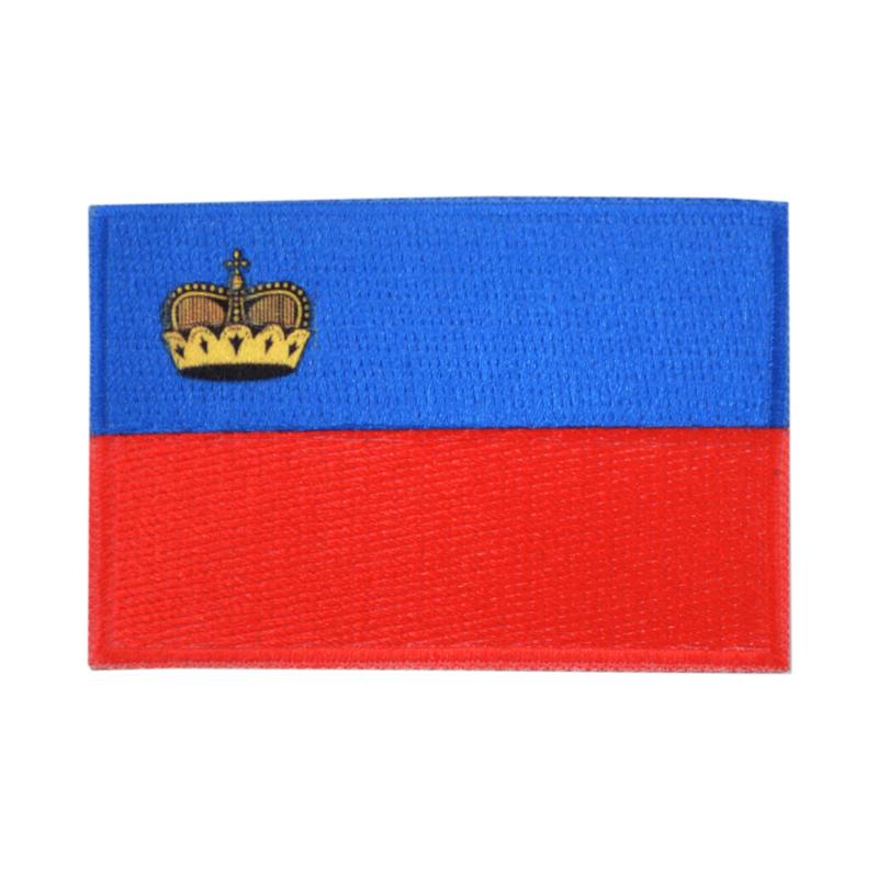 Embleem vlag Liechtenstein