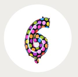 Folie ballon 6 stippen