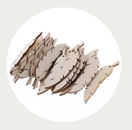 Label hout veertje