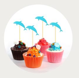 cupcake prikker dolfijn