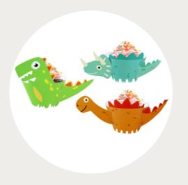 Cupcake wrappers dinosaurus