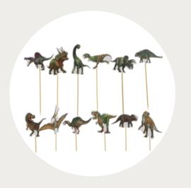 Dinosaurus cupcake prikkers