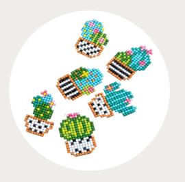 Diamont painting cactus set stickerset