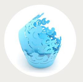 cupcake wikkel (wrapper) eend blauw