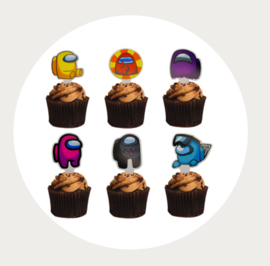Among Us cupcake toppers