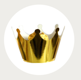 cupcake wikkel/wrapper kroon goud