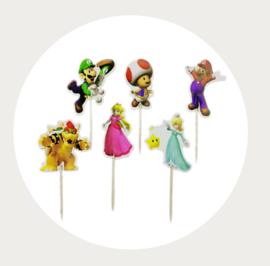 Super Mario cupcake prikkers 1