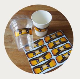 Ninjago ogen stickers 9cm
