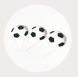 Voetbal cupcake topper