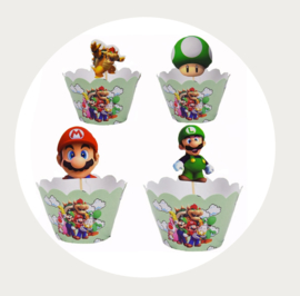 Super Mario cupcake wrapper + prikker