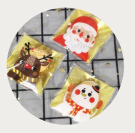 Traktatiezakjes Kerst thema