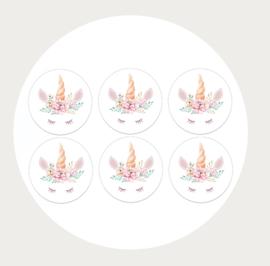 Label stickers voor op een kadootje Unicorn 1