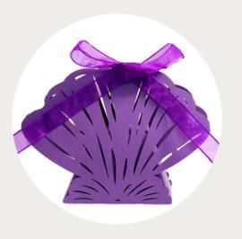 Traktatiedoosje schelp paars