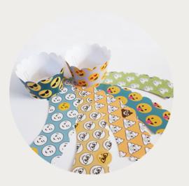 Emoji cupcake wrappers