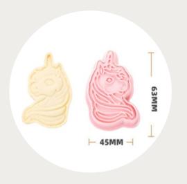 Eenhoorn koekje uitsteker roze 2