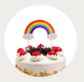 Regenboog taarttopper 2