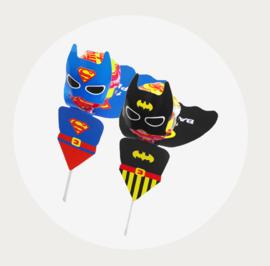 Batman en Superman lolly