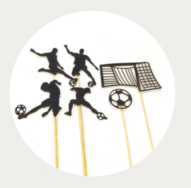 Voetbal decoratie set