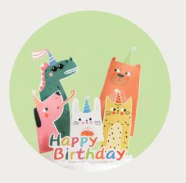 Dieren taart decoratie set