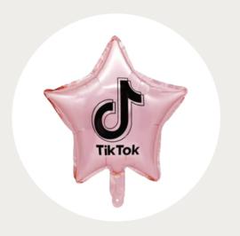 TikTok folie ballon ster roze