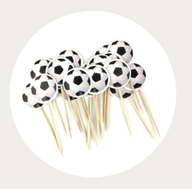 cupcake prikker voetbal