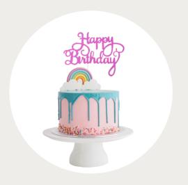 Happy Birthday taarttopper 1