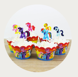 My Little Pony cupcake wikkel / wrapper + prikker