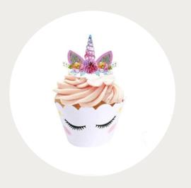 Cupcake wrapper eenhoorn 2 zijdig